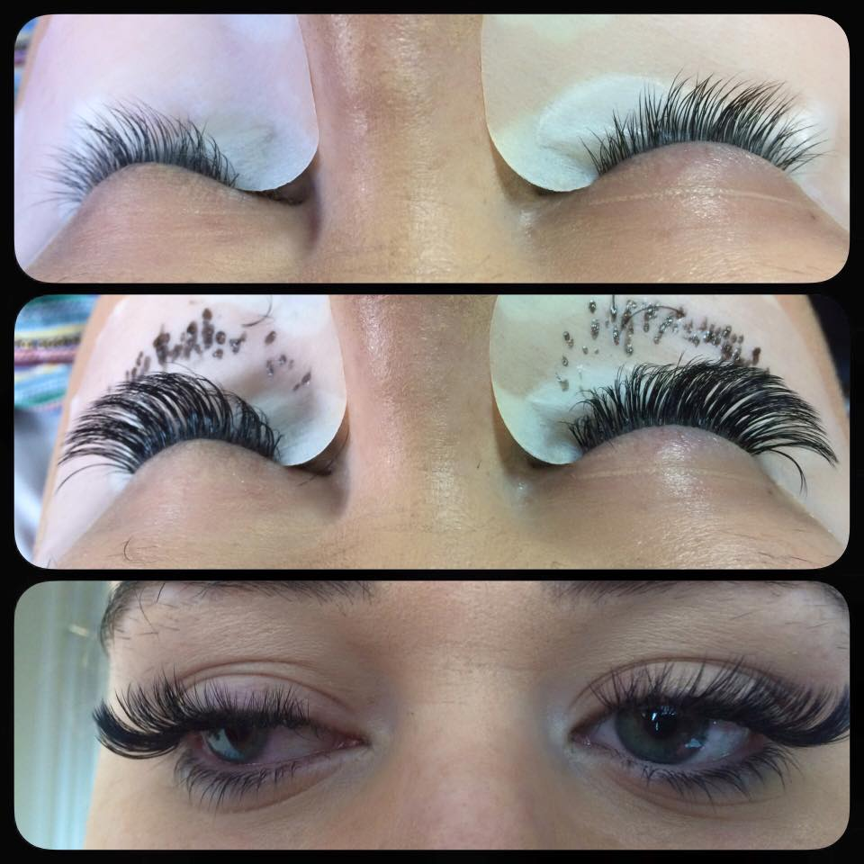 6335f4164f7 They are light natural semi permanent eyelash extensions, but instead of 1  individual lash attached to the clients lashes, we can attach 3 or more on  each ...